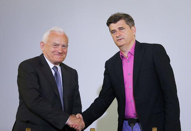 Leszek Miller i Janusz Palikot ogłosili <i>Porozumienie 61</i>
