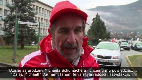 Fani Schumachera świętują jego urodziny