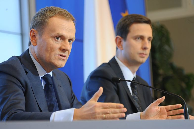 Premier Donald Tusk i minister pracy Władysław Kosiniak-Kamysz<br/>
