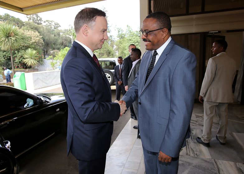 Prezydent Andrzej Duda i premier Etiopii Hajle Marjam Desalegne, maj 2017 roku