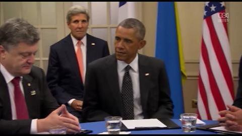 Poroszenko spotkał się z przywódcami USA, Wielkiej Brytanii, Niemiec, Francji i Włoch