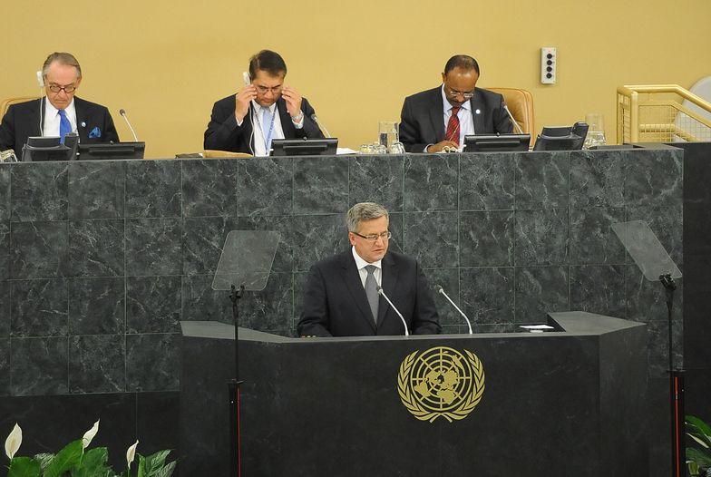 """Komorowski oskarża mocarstwa. """"Syria obnażyła nieskuteczność ONZ"""""""