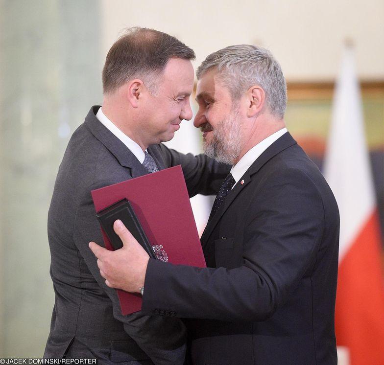 Jan Krzysztof Ardanowski odebrał nominację od prezydenta Andrzeja Dudy