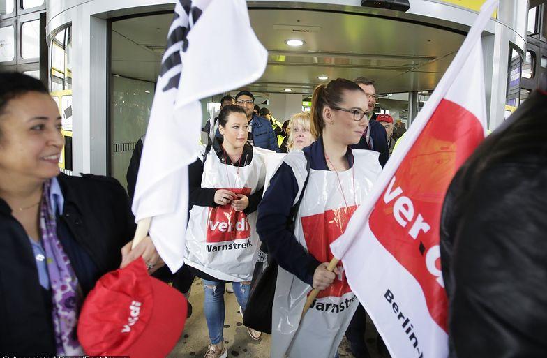 Strajk na lotniskach w Berlinie. Obsługa naziemna domaga się podwyżek