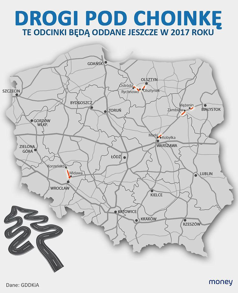 Obwodnica Marek, obwodnica Ostródy, kawałek S5. Drogowcy wystąpią w roli świętego Mikołaja