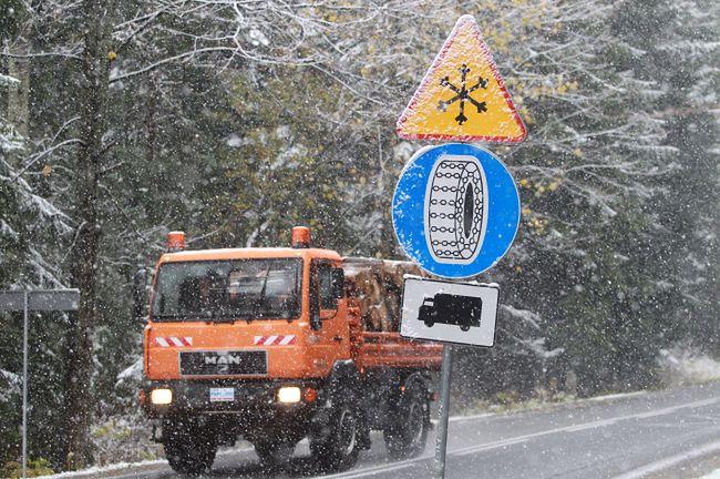 W Zakopanem spadł pierwszy tej jesieni śnieg
