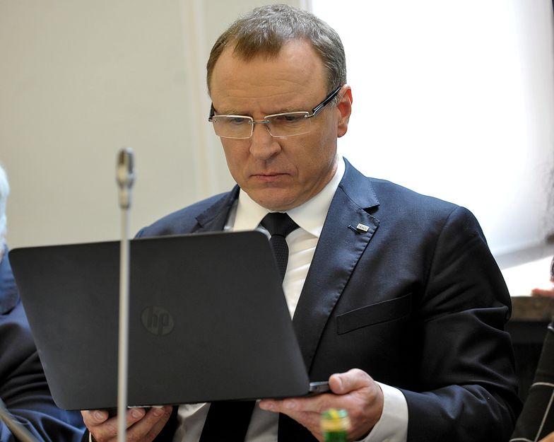 Prezes TVP Jacek Kurski podczas posiedzenia sejmowej komisji kultury i środków przekazu