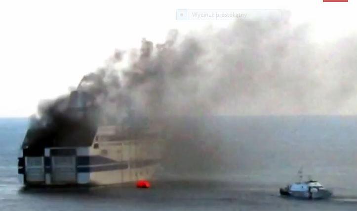 Pasażer promu o okolicznościach pożaru