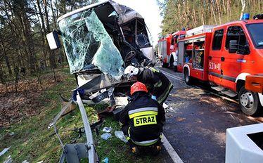 Wielu rannych w wypadku autokaru. Wśród nich dzieci