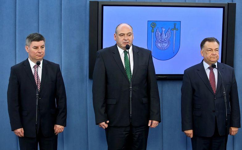 Od lewej starosta legionowski Jan Grabiec, Piotr Zgorzelski</br>i marszałek województwa mazowieckiego Adam Struzik