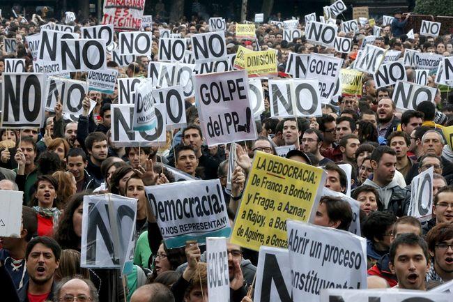 Kryzys w Hiszpanii. Trzeci protest tysięcy ludzi przeciwko cięciom budżetowym