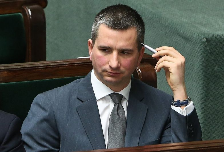 Mateusz Szczurek podczas posiedzenia Sejmu.