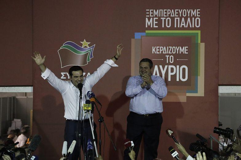 Zwolennicy Syrizy świętują zwycięstwo.
