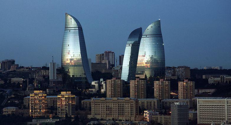 Ukończone w 2012 r. wieżowce Flame Towers w stolicy - Baku to symbol</br> naftowego bogactwa Azerbejdżanu