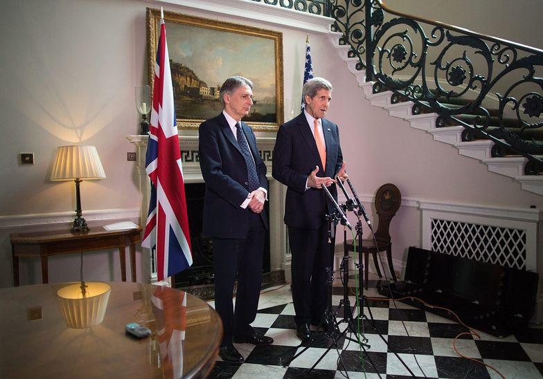 Konferencja szefów MSZ USA i Wielkiej Brytanii.
