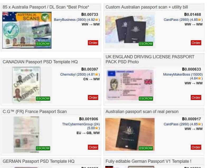 Przestępcy sprzedają w darknecie skany paszportów i fizyczne dokumenty. Chętnych nie brakuje