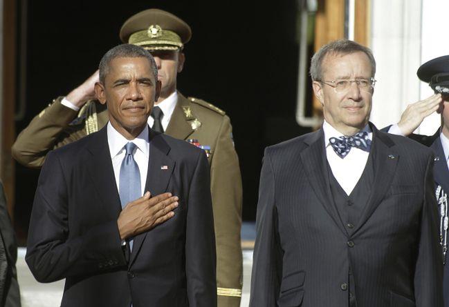 Barack Obama i Prezydent Estonii Toomas Hendrik Ilves