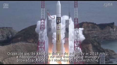 Japoński moduł kosmiczny wyżłobi krater w asteroidzie
