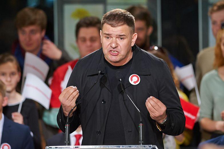 Tomasz Karolak na wiecu wyborczym 14 maja</br>