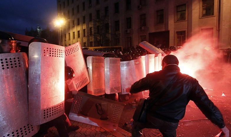 Protesty na Ukrainie. Zwolennicy integracji europejskiej wyszli na ulice