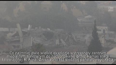 Izrael zaatakował symbole władzy Hamasu w Gazie