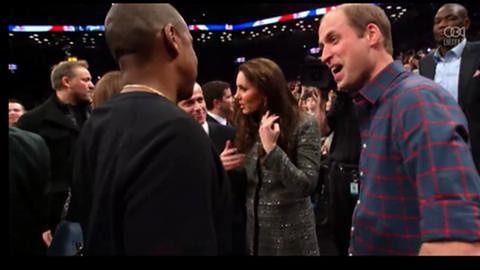 William i Kate spotkali się z Jay-Z i Beyonce na meczu NBA