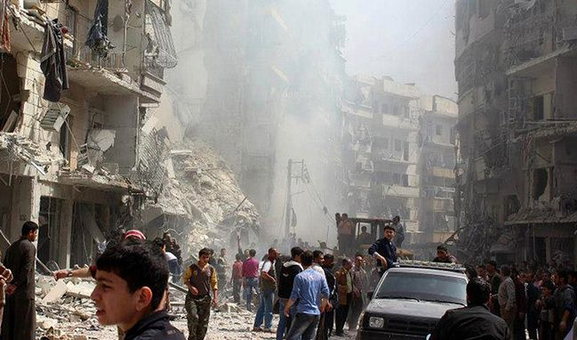 Zamieszki w syryjskim Aleppo, kwiecień 2013