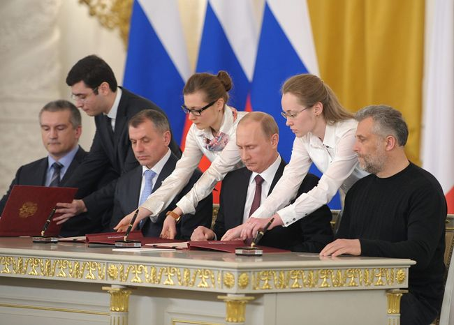 Konflikt na Ukrainie. Granica Krymu to już granica Rosji