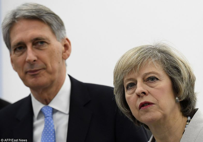 Kanclerz Philip Hammond i premier Theresa May