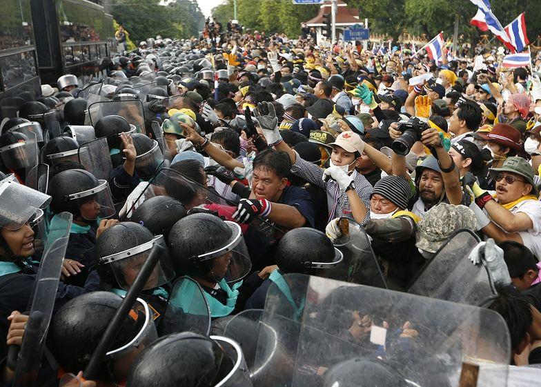 Demonstracje w Tajlandii. Protestanci zablokowali ruch w mieście