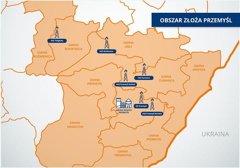 W rejonie Przemyśla PGNiG prowadzi zakrojone na szeroką skalę prace wydobywcze.
