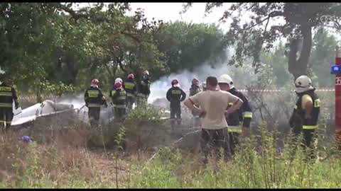 Jedenaście osób zginęło w wypadku samolotu klubu spadochroniarzy