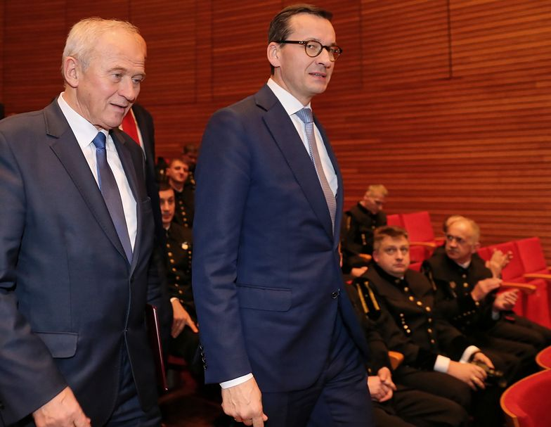 - Dziękuję wszystkim górnikom i pracownikom, którzy pomagają na powierzchni, za wasz trud, wysiłek budowania silnej, nowoczesnej, innowacyjnej Polski - powiedział premier Mateusz Morawiecki.