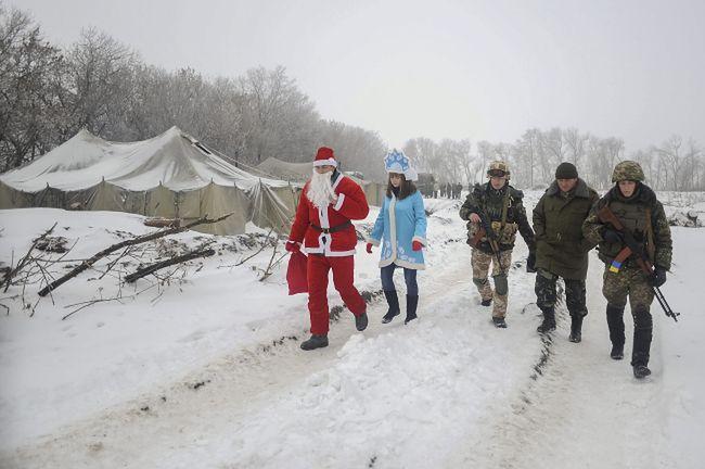 Mikołaj-ochotnik odwiedził ukraińskich żołnierzy