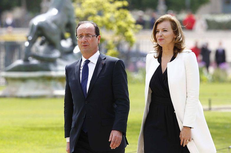 Hollande z oficjalną partnerką Valerie Trierweiler