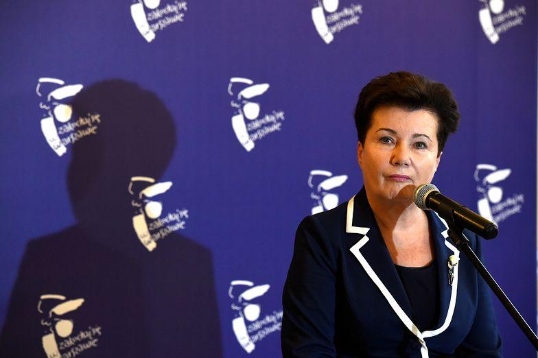 """Hanna Gronkiewicz-Waltz oskarża Partyka Jakiego o """"mszczenie się"""" i """"dręczenie jej""""."""