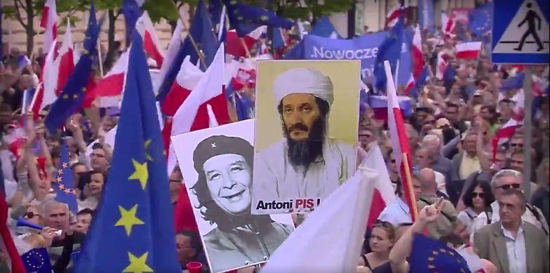 Takimi obrazkami opozycja promuje Marsz Wolności