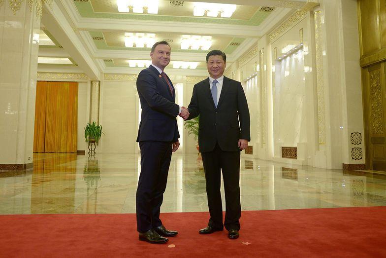Andrzej Duda i Xi Jinping, prezydent Chin
