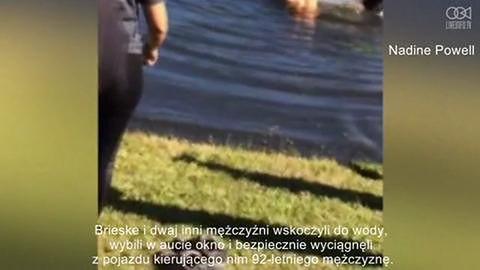 Student uratował 92-latka z tonącego samochodu