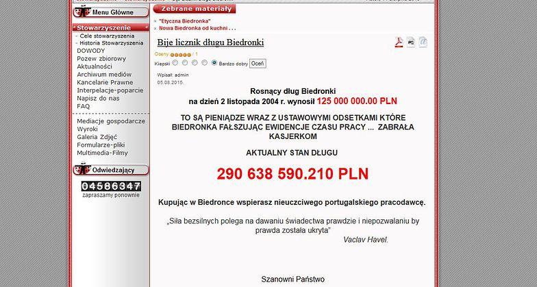 Ruszył licznik długu Biedronki. Sieć do zadłużenia się nie przyznaje i grozi sądem