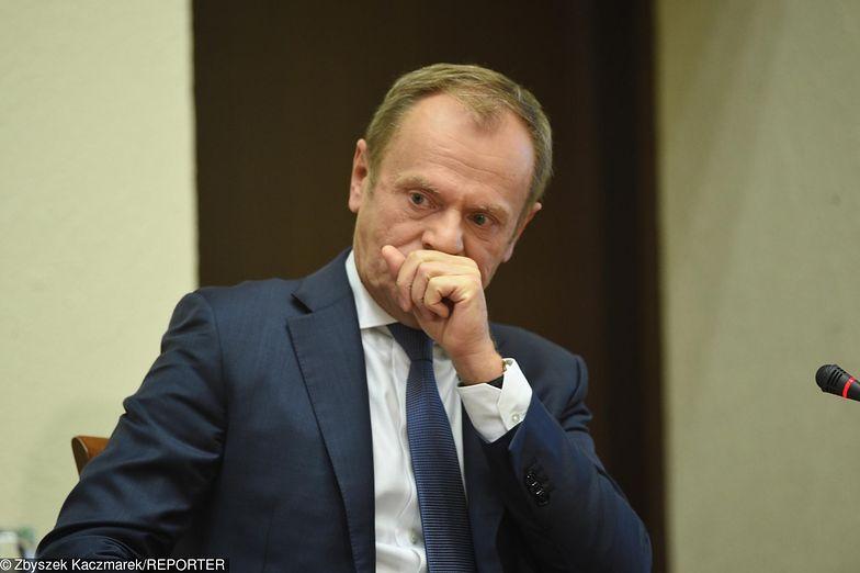 Były premier Donald Tusk przed komisją ds. Amber Gold.