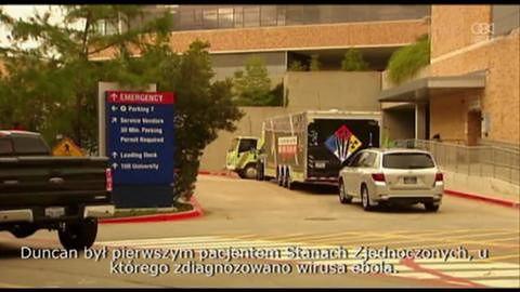 Pozytywny wynik testu na obecność wirusa eboli u pracownika szpitala w Teksasie