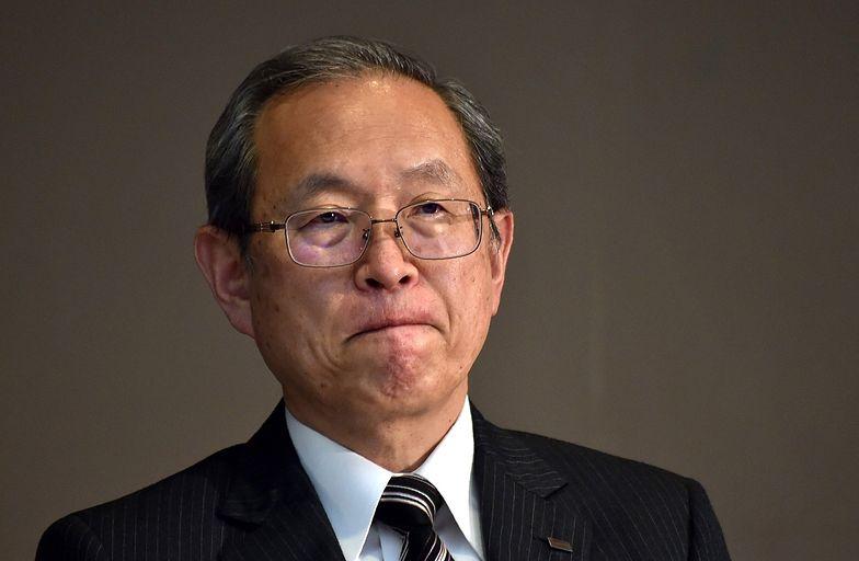 Na zdjęciu prezes Toshiby Satoshi Tsunakawa
