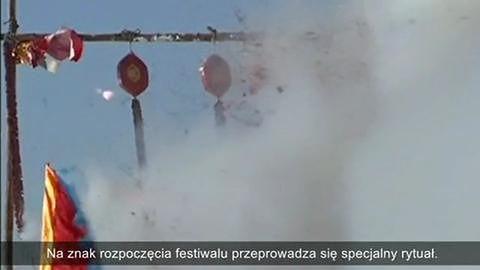 Festiwal łowienia pod lodem na jeziorze Czagan