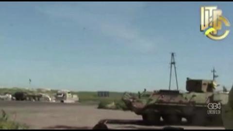Ukraińscy żołnierze walczą z prorosyjskimi separatystami w Słowiańsku