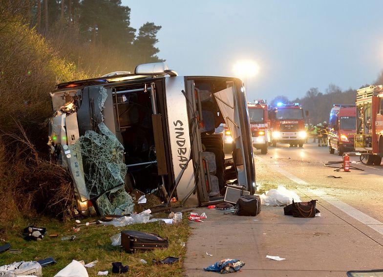 Wypadek polskiego autokaru w Niemczech. Są ranni