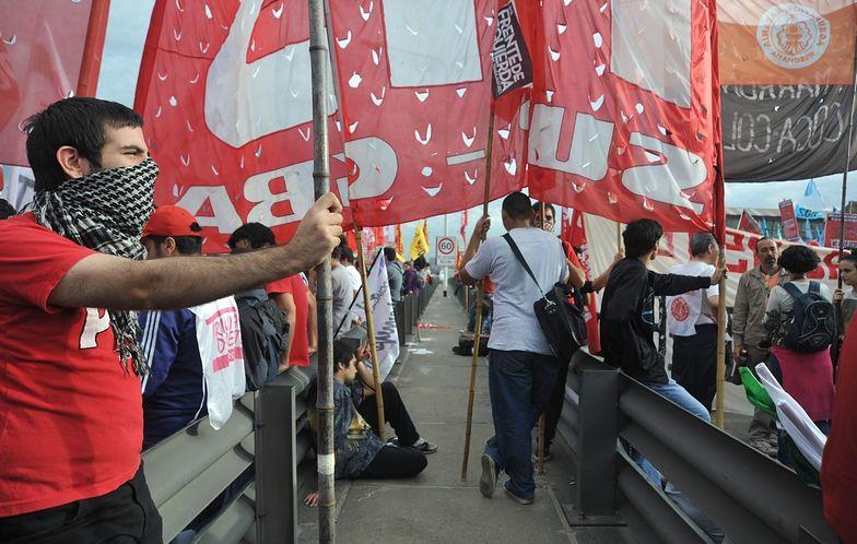 Argentyna: Protest związków zawodowych sparaliżował stolicę