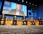 O euro i bezrobociu z ostatnim dniu forum w Davos