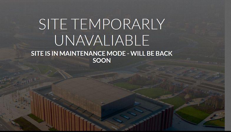 Taki komunikat pojawia się po wejściu na stronę COP24