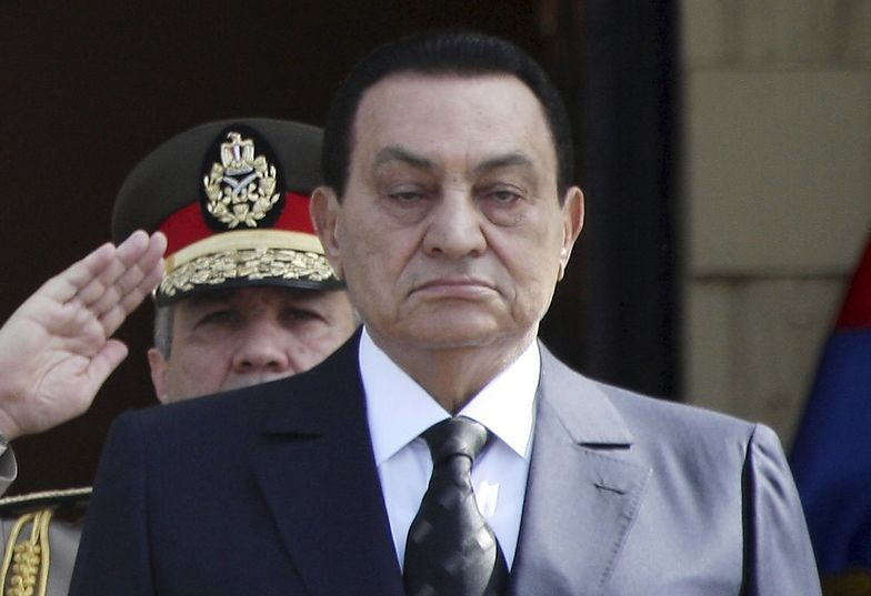 Hosni Mubarak jeszcze jako prezydent Egiptu</br>